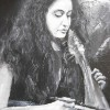 Kelly Thoma, a talented  Greek musician at the Labyrinth Music Workshop in Crete.(Detail)